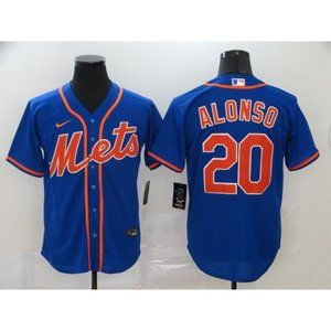 New York Mets Pete Alonso Blue Game Jersey